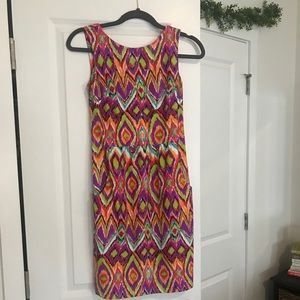 Jude Connally colorful sheath dress size Xs